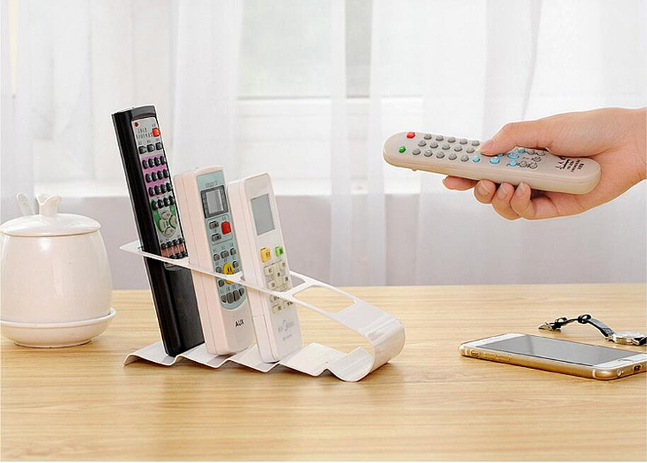 Up To 4 TV DVD VCR Mobile Phone Remote Control Stand Holder Storage Organiser