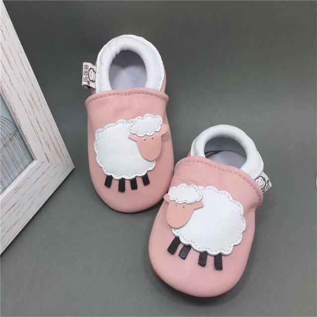 Nueva Marca de Bebé de Cuero Genuino Mocasín Zapatillas de Suela Blanda Zapatos Del Bebé Recién Nacido Niño Niña Zapatos sapato infantil menino