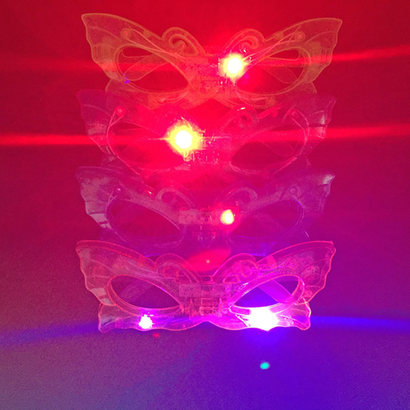 Led Wedding Dress Party Light Butterfly Glasses For Christmas Birthday Halloween Decoration Supplies Glow 10pcs/lot Hot Sale
