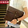 10 estilo pode ser escolher Diariamente dia fashion garras envelope saco do mensageiro do couro masculino tendência da pasta de documentos a4 sacos