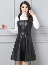 2019 New Leather Strap Sheepskin Dress P3