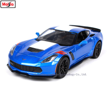Maisto 1:24 2017 Corvet Simulation alloy super toy car model For with Steering wheel control front wheel steering toy car цена 2017