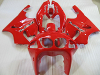 Kawasaki ninja ZX7R için Aftermarket vücut parçaları Fairing kiti 96 97 98-03 kırmızı grenaj seti ZX7R 1996-2003 OT11