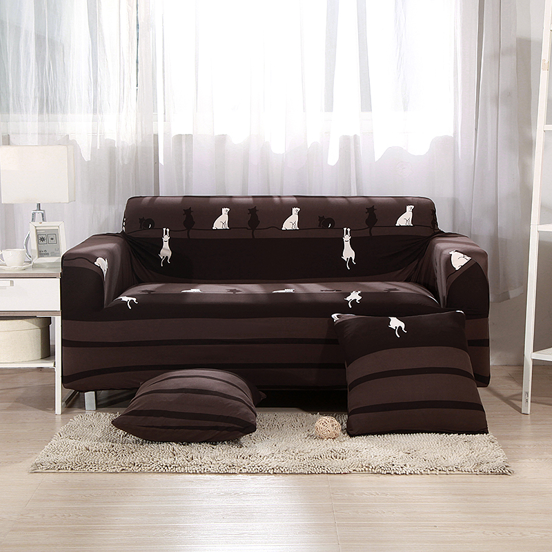 Fabulous Us 14 35 59 Off Brown Anti Dirty Universal Stretch Sofa Covers For Living Room Ins Cute White Cats Furniture Covers Couch Corner Sofa Covers In Sofa Pdpeps Interior Chair Design Pdpepsorg