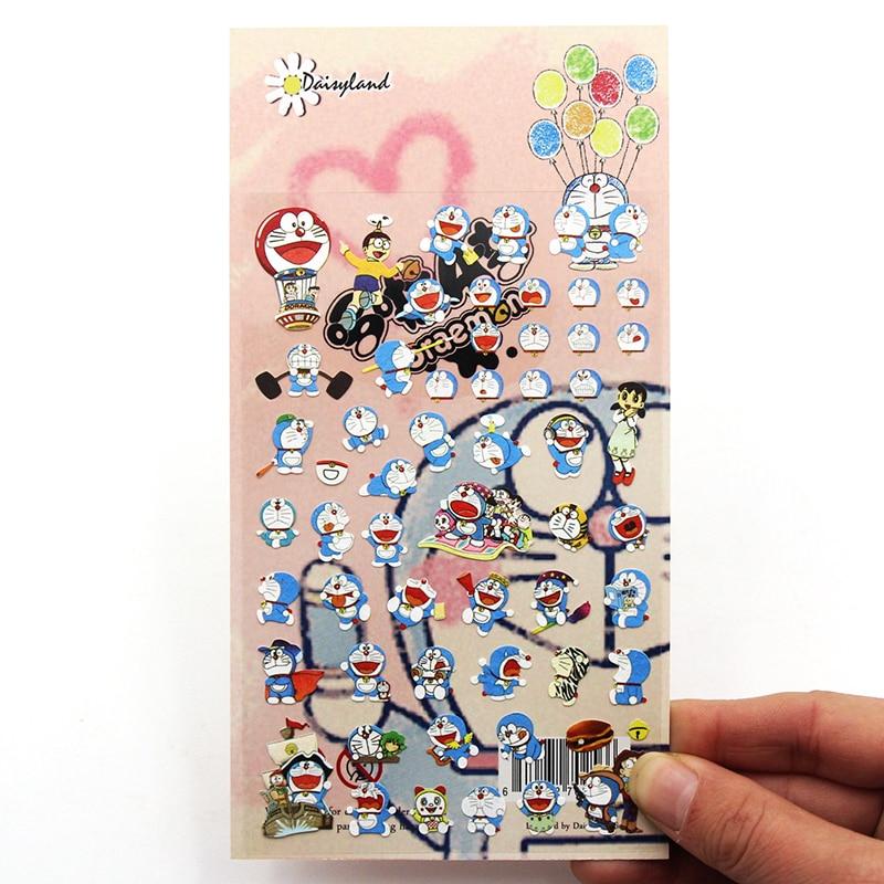 1 PCS Cartoon Doraemon Adhesive Paper Sticker Decoration DIY Scrapbooking Sticker Post It Kawaii Stationery