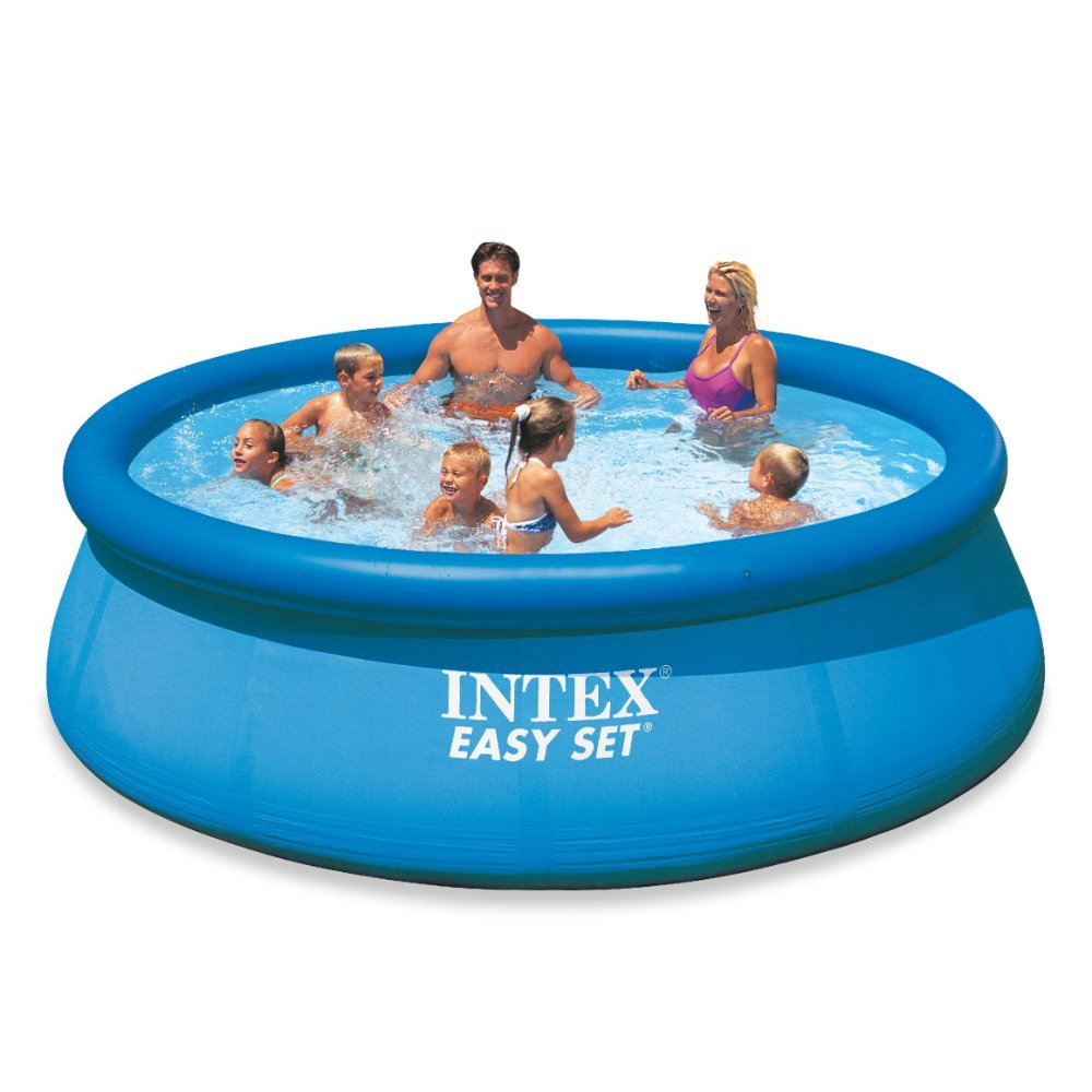 Intex easy set pool set hot selling top ring inflatable swimming pool for kids large Inflatable quick set swimming pool