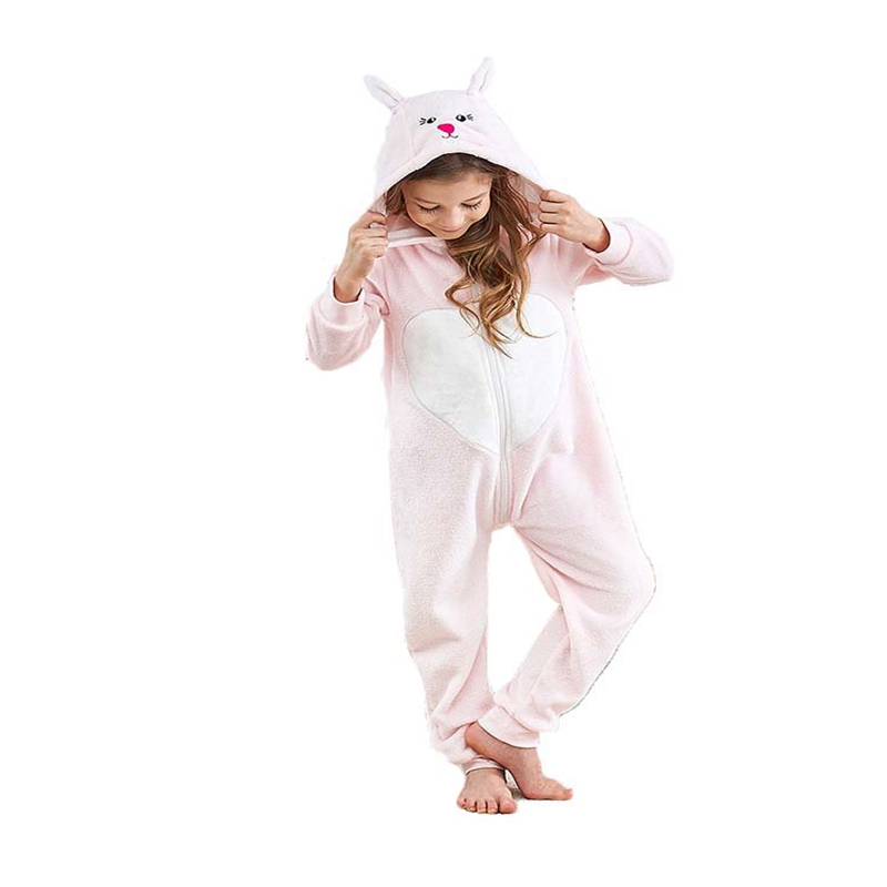 NORIVIIQ Animal Cosplay Casual Cartoon Hooded Keep Warm Home Clothes Children Jumpsuits Nightwear Pajamas Sets Clothing Costumes