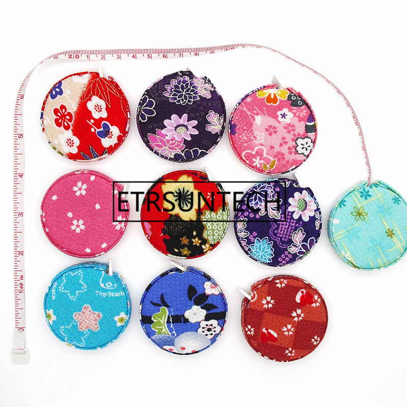 1 5 M Japanese Syle Cherry Flower Design Sewing Measurement Retractable Tailor Ruler Tape Measures Gift