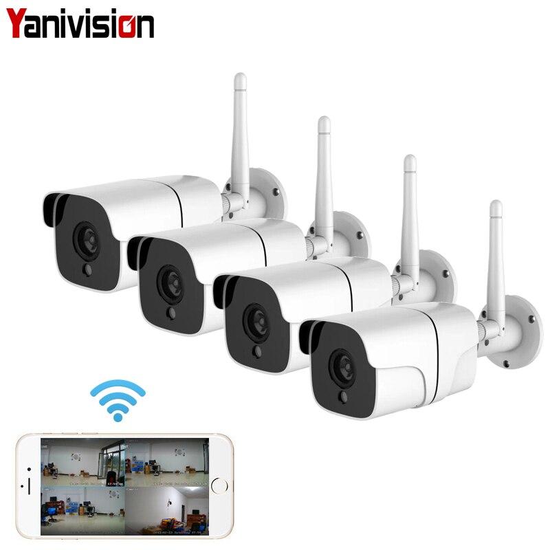 Sécurité sans fil système de caméra 1080 P IP Caméra Wifi SD Carte En Plein Air 4CH Audio système cctv Vidéo kit de surveillance Camara