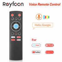 T1 Voce di Controllo Remoto 2.4G Air Mouse G10 Giroscopio Per Google Giocare Netflix Youtube Tx6 T95 max Q plus x88 Pro A95X F2 Tv Box
