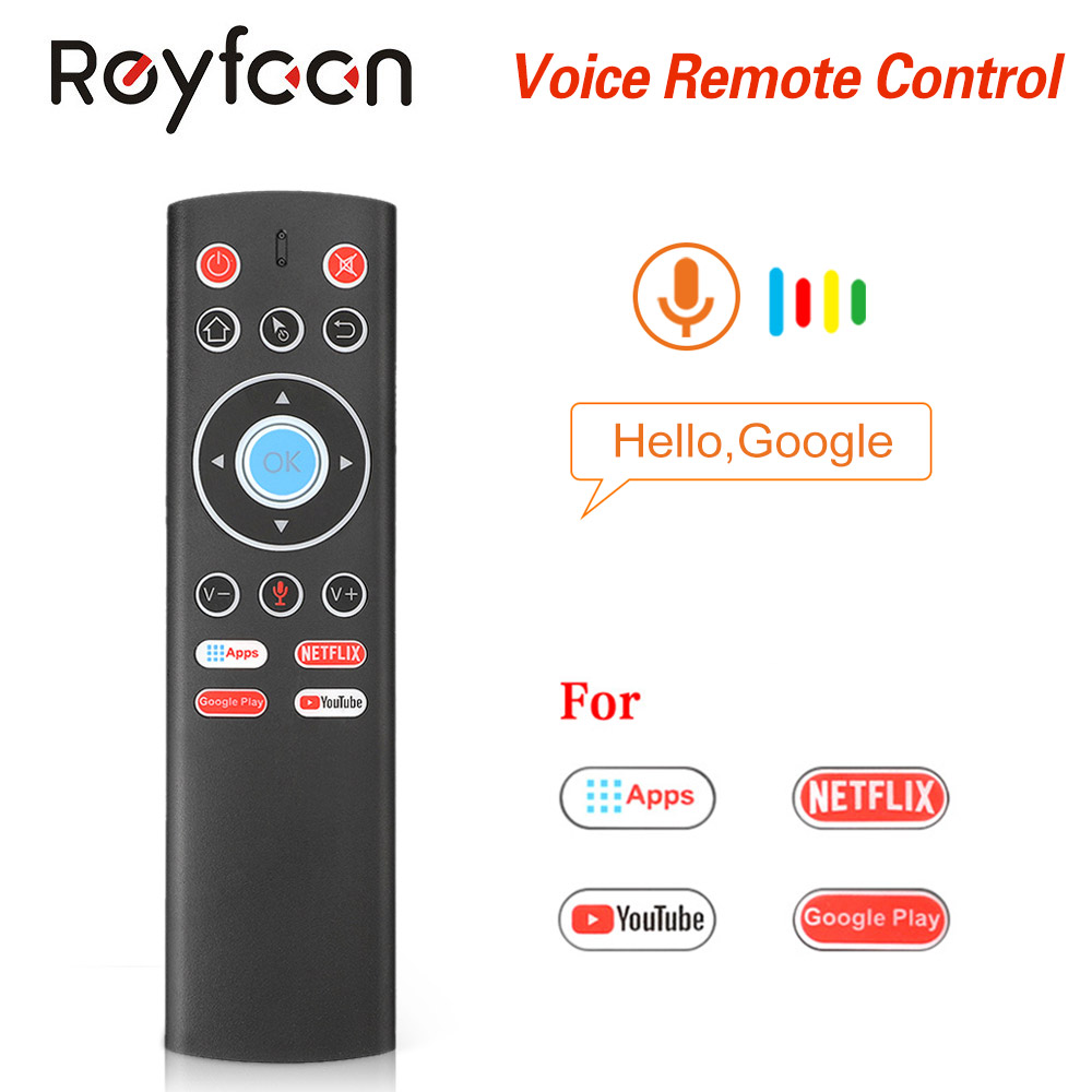 T1 Voice Remote Control 2.4G Air Mouse G10 Gyroscope For Google Play Netflix Youtube Tx6 T95 max Q plus X88 Pro A95X F2 Tv Box(China)