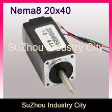 NEMA 8 CNC Stepper motor 20×40 4mm shaft nema 8 2.6N.cm 0.6A cnc stepping motor for CNC engraving milling machine 3D printer