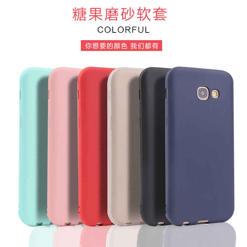 For Samsung Galaxy A3 A5 A7 2017 2016 Case Colorful Candy Color TPU Silicone Rubber Case For Galaxy A6 A8 Plus 2018 A50 A70 M10