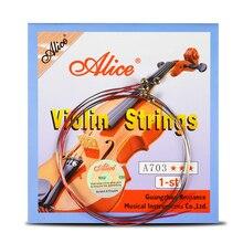 4 шт./компл. скрипки струны 1st-4th 1 комплект EADG для 1/8 1/4 1/2 3/4 4/4 общий Размеры-Алиса: безумие возвращается A703 скрипки Запчасти аксессуары
