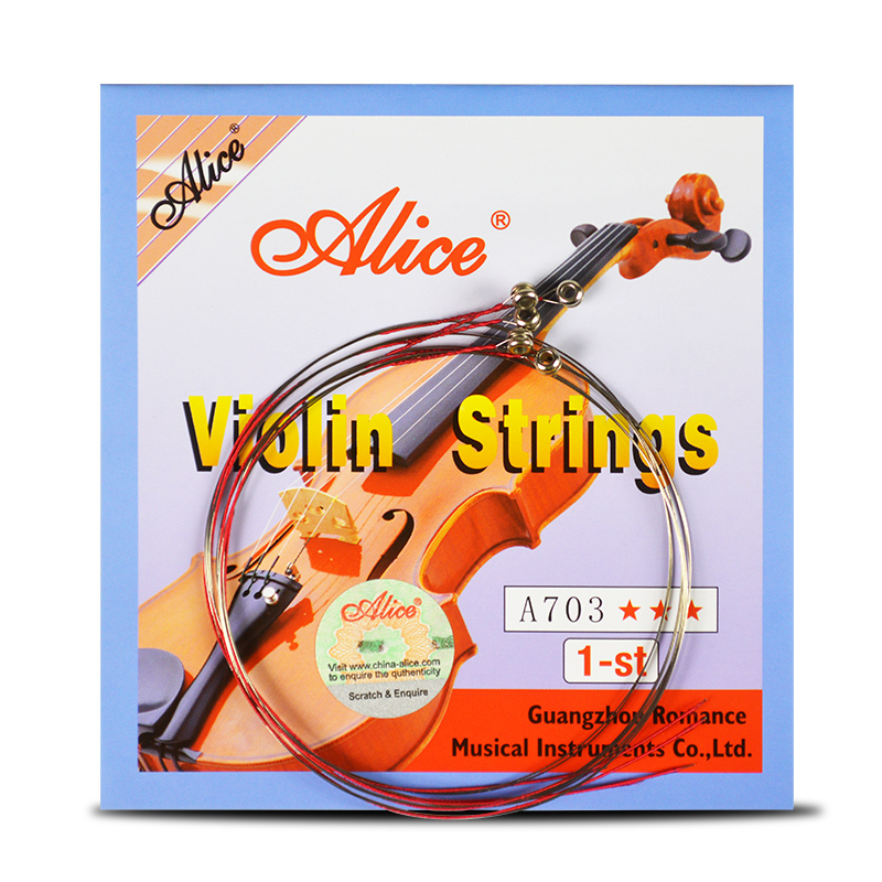 4 Pieces/set Violin Strings 1st-4th 1 Set E A D G For 1/8 1/4 1/2 3/4 4/4 Common Size - Alice A703 Violin Parts Accessories