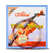 4 Pieces/set Violin Strings 1st-4th 1 Set E A D G for 1/8 1/4 1/2 3/4 4/4 Common Size - Alice A703 Parts Accessories