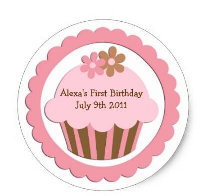 1 5 inch disesuaikan cupcake stiker label
