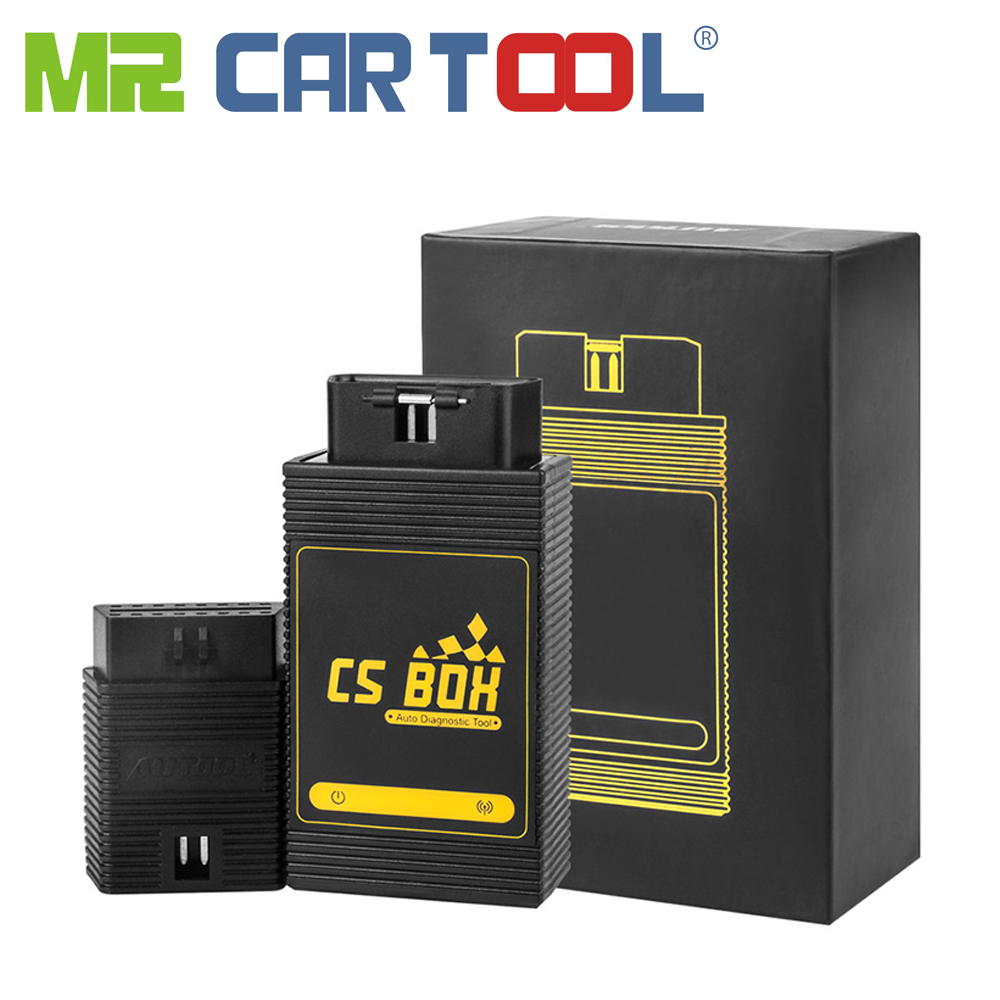 AUTOOL CS BOX OBD 2 ODB II Car Multi System Bluetooth ETC ABS Key Coding DTC Reader Erase Android OBD2 Extension Joint As A Gift