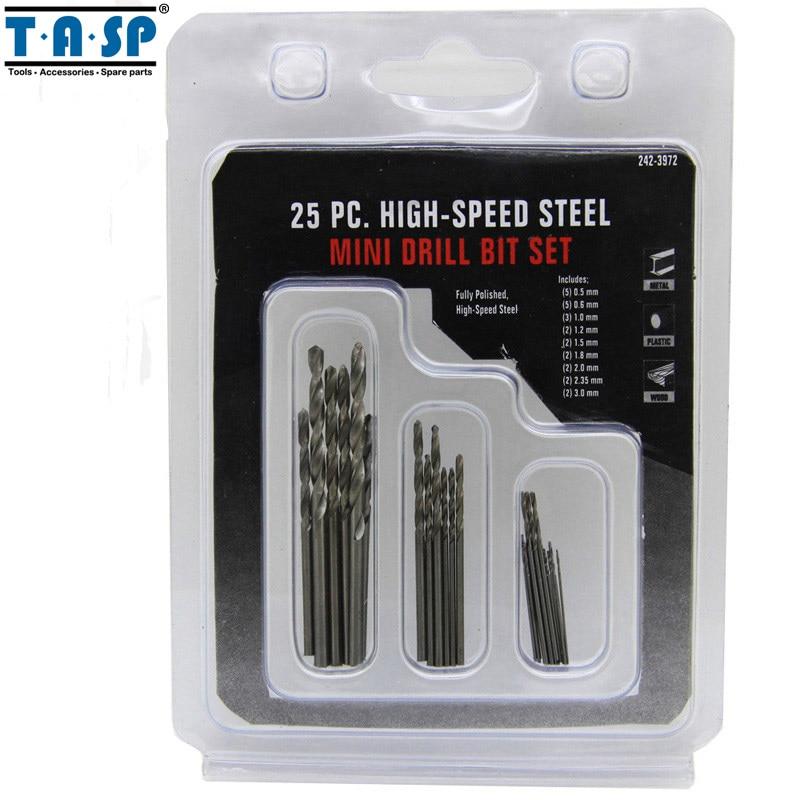TASP 25db-os mikro Mini fúrószárak készlet 0.5mm ~ 3mm NYÁK - Fúrófej - Fénykép 5