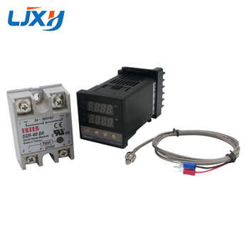 Digital PID Temperature Controller Thermostat REX-C100 Type K Thermocouple Probe SSR Relay for Control Heater Temperature