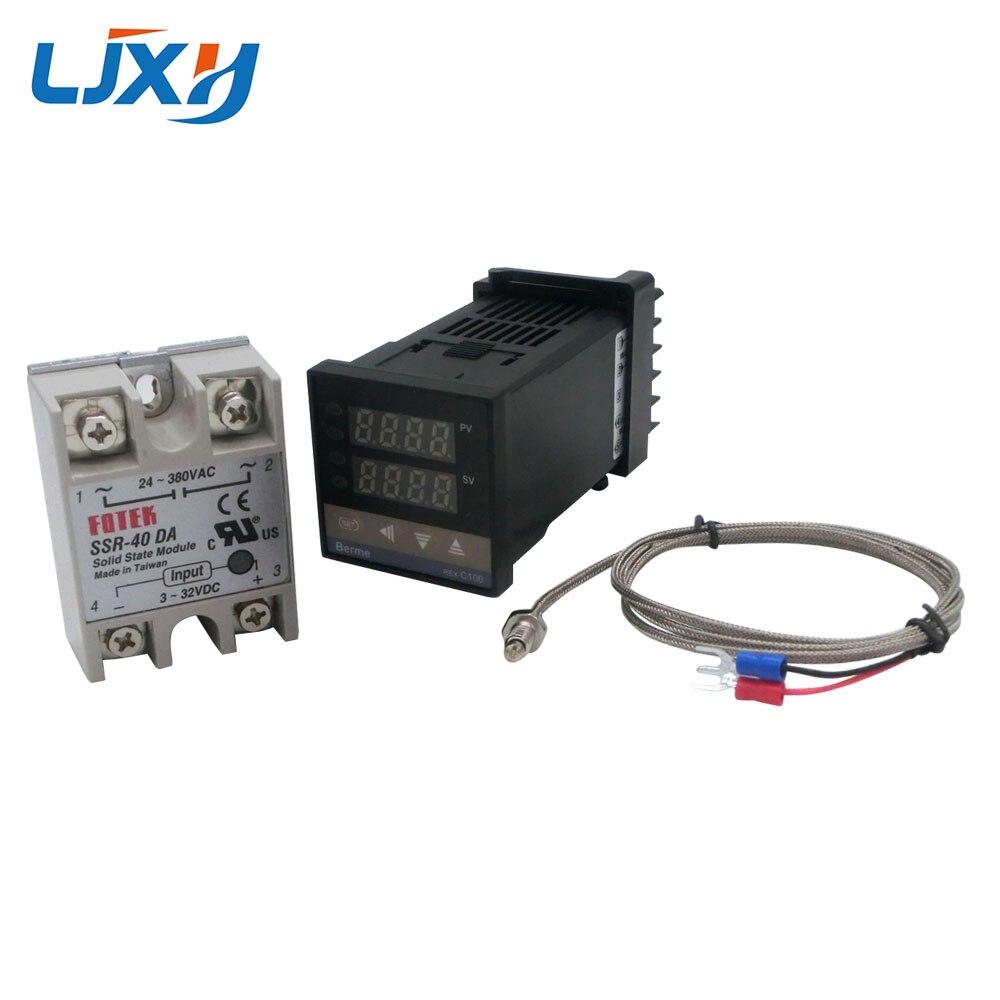 Image 2 - Цифровой PID контроль температуры Лер термостат REX C100 Тип K термопары зонд SSR реле для контроля температуры нагревателя-in Запчасти для электроводонагревателей from Бытовая техника