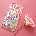 KISSCASS Case For iPhone 6 6s Dynamic Liquid Shining Stars Cover For Apple iPhone 6 6s Plus Case Triangle Girly Accessories