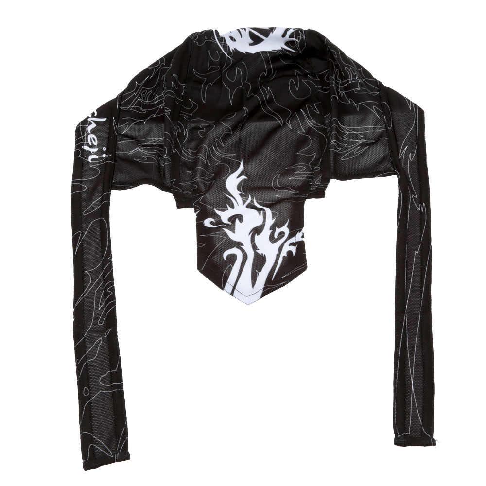 Мужская Черная Спортивная велосипедная дышащая шляпа быстросохнущая велосипедная шарф велосипедиста пиратский шарф, бандана