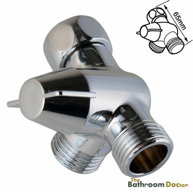 3 Way Shower Head Diverter Valve For Handshower / Toilet Bidet Spray, G1/