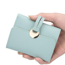 цена на Wallet ladies short tassel wallet multi-card Japanese and Korean version of the wallet purse three fold wallet new buckle