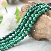 Wholesale High quality Natural 5A Malachite Crystal Round Stone Beads For Jewelry Making DIY Bracelet Necklace Strand Crystal