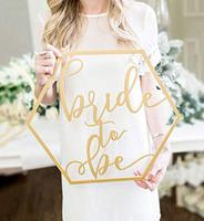 Невеста быть свадебное оформление, шестиугольник свадебный душ девичник современный Boho Фото Опора знак для свадебного декора