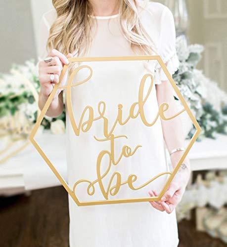Leuk Bruid Om Bruiloft Teken, Hexagon Bridal Shower Bachelorette Moderne Boho Photo Prop Teken Voor Bruiloft Decor Tegen Elke Prijs
