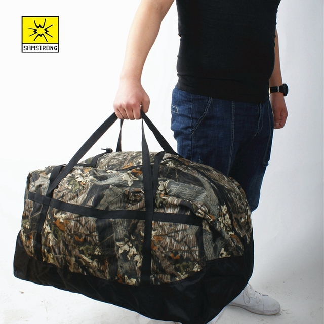bb42f3dbce Samstrong Tote 80L Outdoor Carry Bag Handbag Self Driving Bag Consignment  Luggage Self Driving Army Large