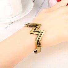 Movie Superhero Wonder Women Charm Bracelet Bangle For Women Men Crown Arm Elastic Opening Bracelet Wristlet Charm Accessories