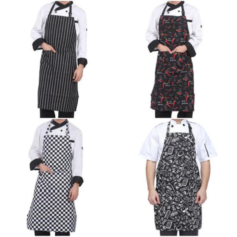 2018 Fashion Verstelbare Hang Hals Chef Keuken Schort Restaurant Bakken Koken Bib Jurk