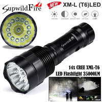 High Quality Super Bright 35000Lm 14x CREE XML T6 LED 5Mode 18650 Flashlight Torch Light Lamp