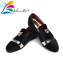 Men Casual Shoes Velvet Loafers Luxury Brand Tiger Metal Breathable Wedding Party Red Bottom Italian