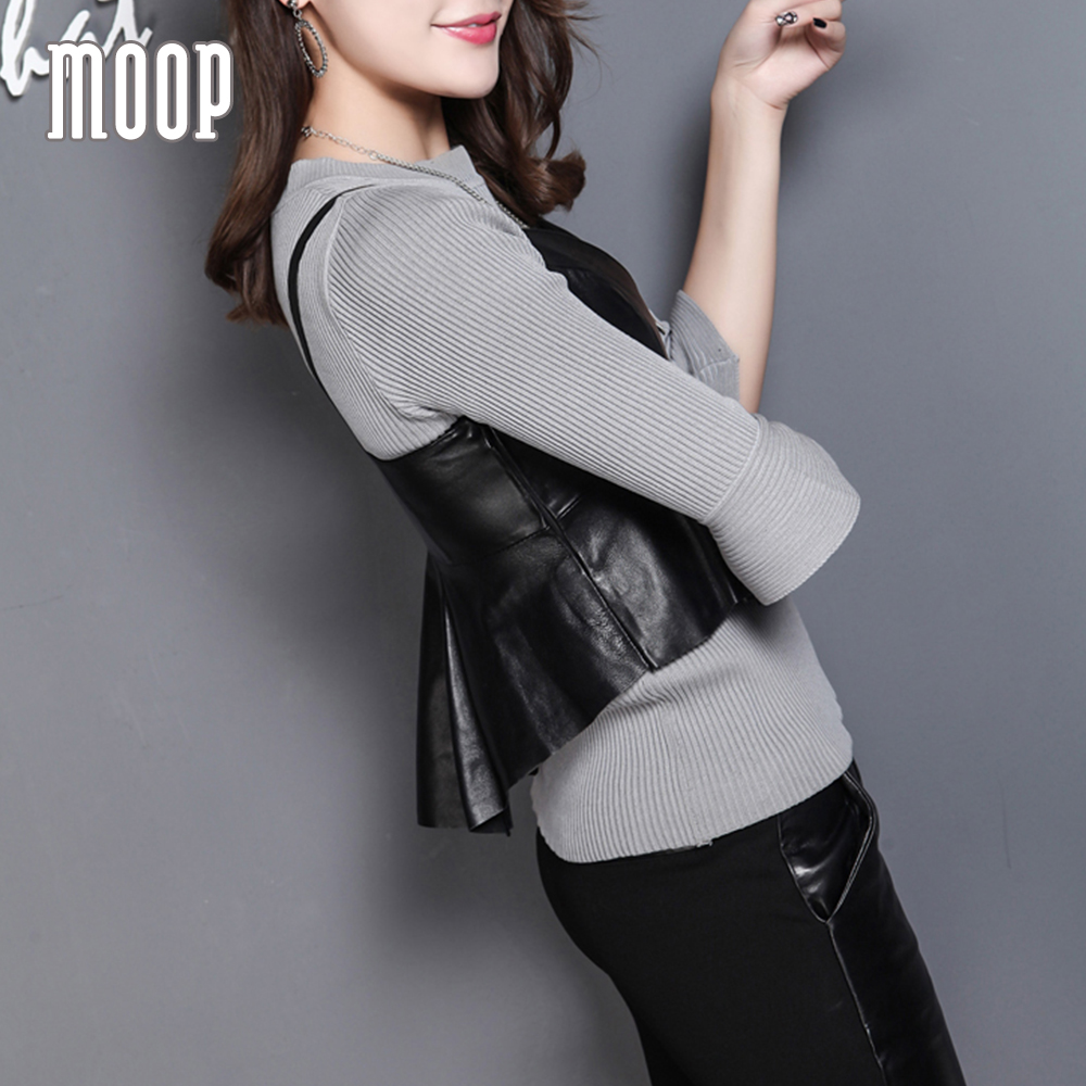 Black genuine leather vest sheepskin real leather sleeveless jacket waistcoat camisole chalecos mujer colete feminino LT1233
