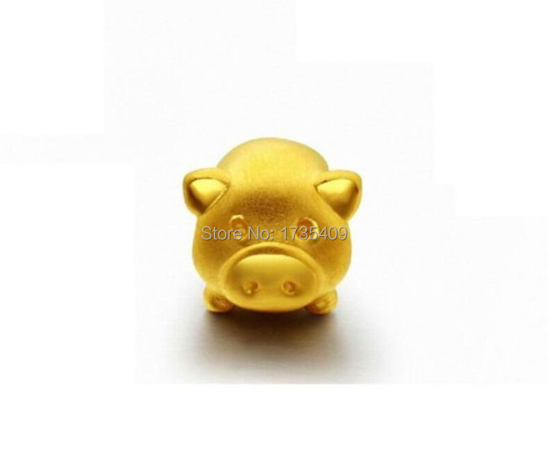 999 24K Solid Yellow Gold Pendant / 3D Carved Lovely Pig Pendant /1.1g999 24K Solid Yellow Gold Pendant / 3D Carved Lovely Pig Pendant /1.1g