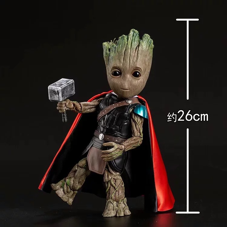 Marvel guardians of the galaxy Avengers cute baby tree man COS Raytheon mobile joints Groot action figure ToysMarvel guardians of the galaxy Avengers cute baby tree man COS Raytheon mobile joints Groot action figure Toys