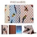 Для ipad воздуха 1 2 9.7 ''новая мода ИСКУССТВЕННАЯ кожа Флип Tablet случаи обложка для Apple iPad 9.7 mini 4 защитный стенд птица серии