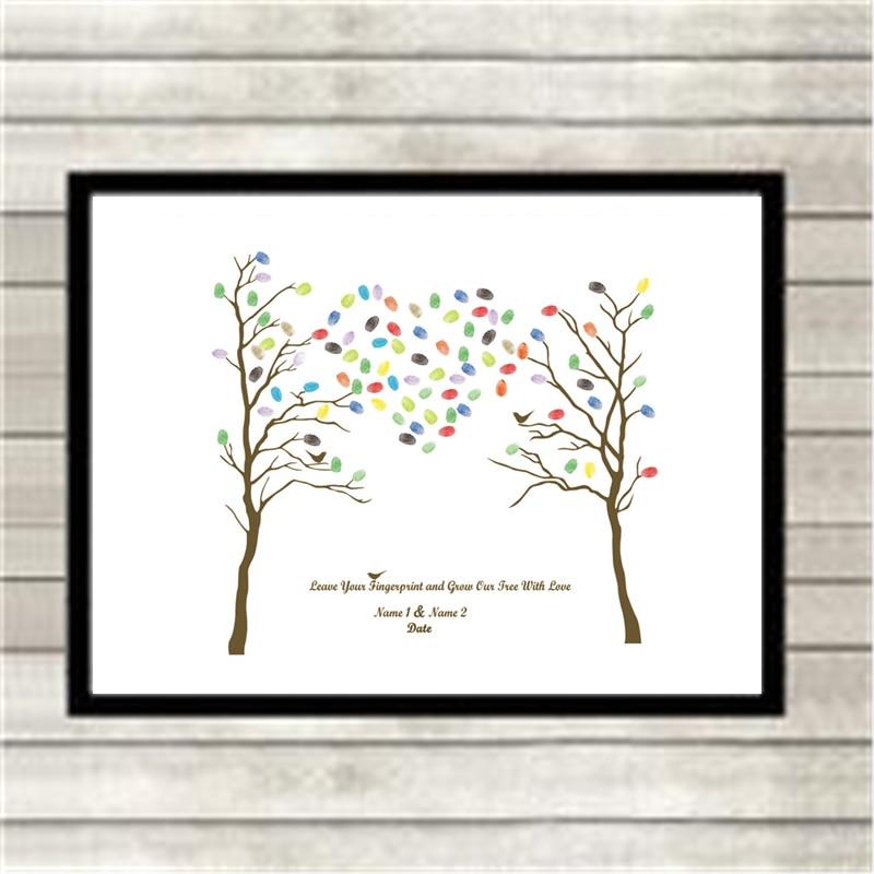Party Benutzerdefinierte DIY Fingerabdruck Baum Unterschrift ...