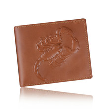 100% top quality cowhide genuine leather men wallets luxury dollar price short style male purse design brand slim money clip