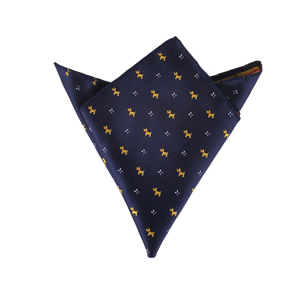 New Arrival Fashion Men's Cotton Pocket Square Western Style Floral Handkerchief For Suit Pocket Wedding Square Paisley Hanky