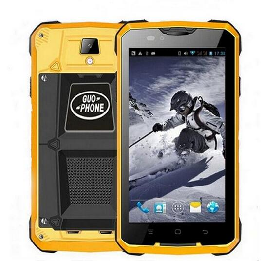 24 Hours Shipping Gift Guophone V12 4000mAH Battery waterproof shockproof 5 0 GPS MTK6572 Dual