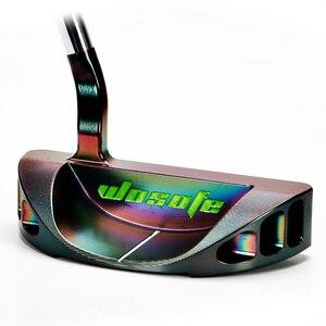 Image 3 - 골프 클럽 퍼터 남자 오른손 퍼터 스틸 샤프트 원형 퍼터 PVD 블랙 크로매틱 무료 배송