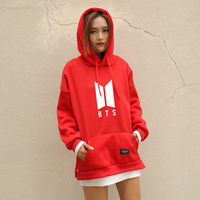 BTS Hoodies Women New Kpop BTS Bangtan Antumn Fleece Hooded Sweatshirt Harajuku Winter Hip Hop Patchwork