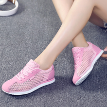 Allwesome Women Breathable Mesh Shoes Summer Casual Sneakers Pink Jogging Sneakers Zapatos De Mujer New 2019 цены