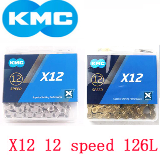 new KMC X12 12 speed 126L MTB Mountain Bike Bicycle Chain 12s Golden Chain with Magic