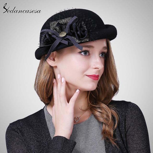 New Warm Artist Beret Hat for Women church Australian wool felt hat Boina  Gorras Planas Vintage Winter Warm Casquette FW122038 f201cf8e80e